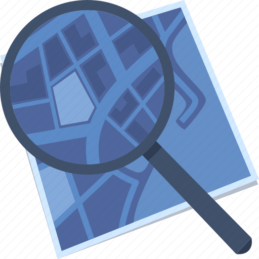 address, find location, map, search, zoom icon