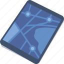 city map, direction, location, street map, tablet icon