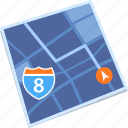 gps, map, navigation, street icon