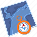 compass, direction, map, navigation icon