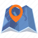 destination, location, map, map pin icon