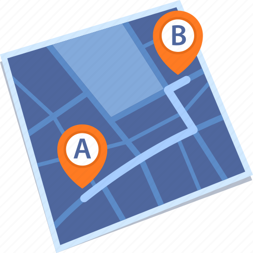 gps, map, navigation, route icon