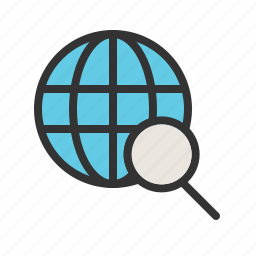 city, discovery, explore, location, magnifying, map, travel icon