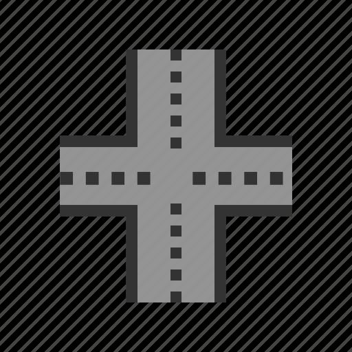 freeway, highway, interchange, overpass, road, underpass icon