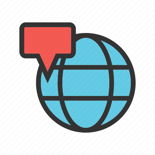 business, communication, earth, location, map, network, world icon