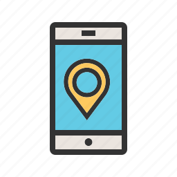 city, gps, location, map, mobile, navigation, phone icon