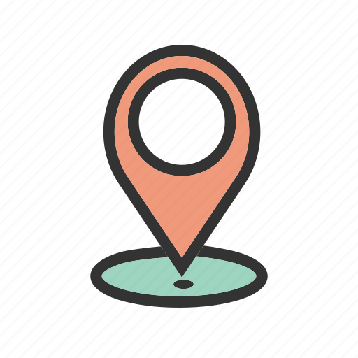 location, map, paper, pin, place, road, travel icon