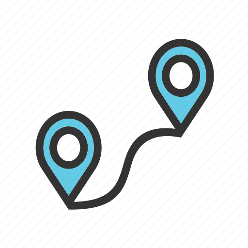 destination, gps, map, road, roadmap, route, trip icon