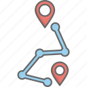 destination, location, map, navigation, route icon