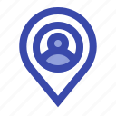 location, map, navigation, people, pin, place, user icon