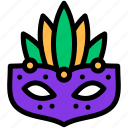 carnival, costume, mardi gras, mask icon