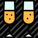 carnival, champagne, drinks, mardi gras icon