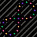 beads, carnival, colorful, mardi gras icon