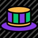 carnival, costume, hat, mardi gras icon