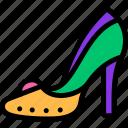 carnival, heels, high, mardi gras icon