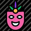 carnival, costume, mardi gras, mask icon