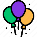 balloon, carnival, decoration, mardi gras icon