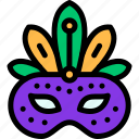 carnival, mardi gras, mask, masquerette icon
