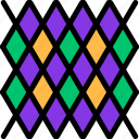 carnival, decoration, mardi gras, pattern icon
