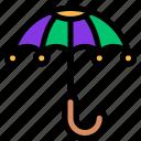 carnival, mardi gras, rain, umbrella icon