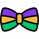 bow, carnival, mardi gras, tie icon