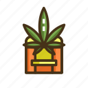 drive, marijuana, through icon