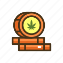barrel, cbd, marijuana, prices icon