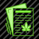 article, cannabis, marijuana, paper, publication icon