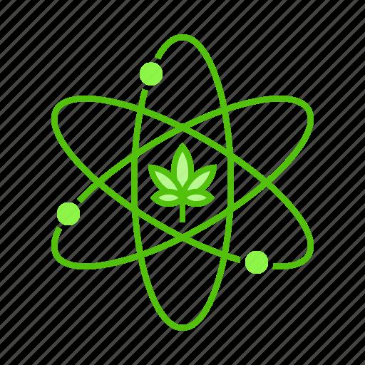atom, cannabis, compound, marijuana, particle icon