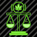 cannabis, controversy, court, law, marijuana icon