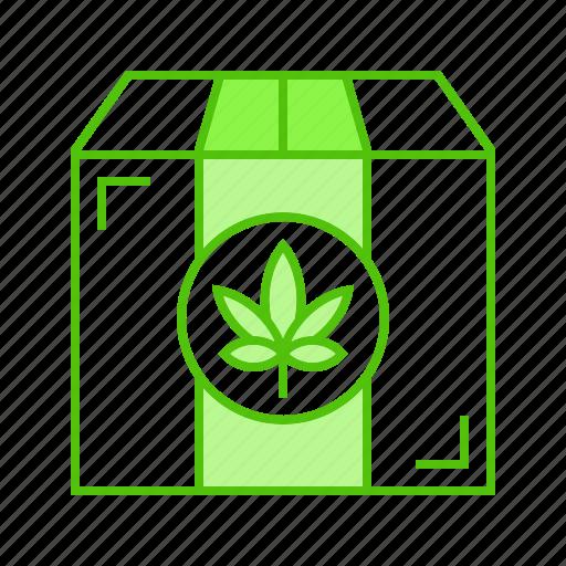 box, cannabis, marijuana, package, shipping icon