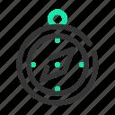 compass, direction, marine, navigation, ocean, sailor, sea icon