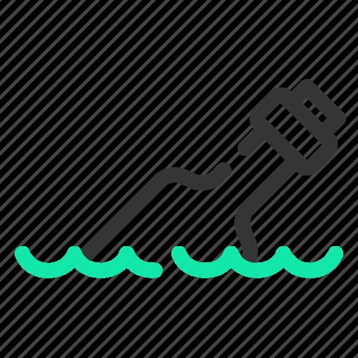 bottle, floating, marine, ocean, sailor, sea icon