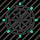 marine, ocean, sailor, sea, ship, shipping, wheel icon
