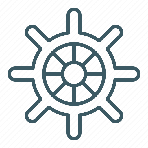 boat, marine, navigation, ship, steering, wheel icon