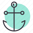 anchor, marine, nautical, ocean, sail, sailor, ship icon