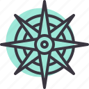 compass, direction, location, navigation, ocean, sea, ship icon