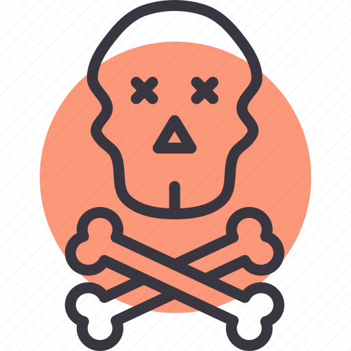 crossbones, danger, death, pirate, skull, warning icon