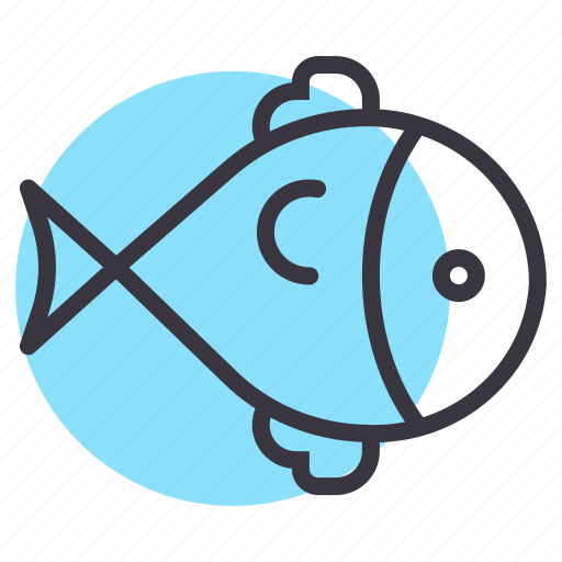 fish, food, marine, sea, swim icon