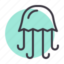 jellyfish, marine, sea icon