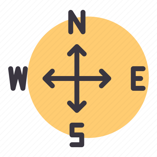 direction, east, navigation, north, south, west icon