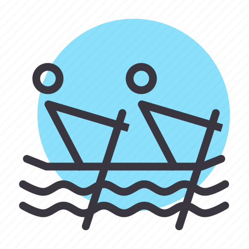 boat, canoe, paddle, row, rowing, sea, water icon