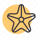 fish, marine, sea, star, starfish icon