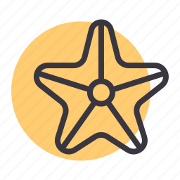 fish, marine, sea, star, starfish icon