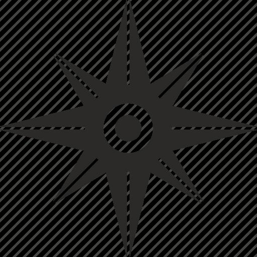 compass, location, marine, navigation, star, ways icon
