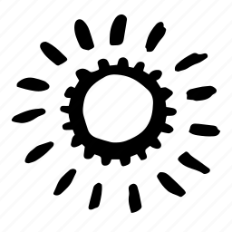 automatic, gear, machine, marker, metal, rotate icon