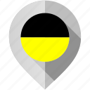 aachen, flag, map, marker icon
