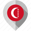 anjouan, flag, map, marker icon