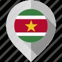 flag, map, marker, suriname icon
