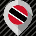 flag, map, marker, trinidad icon